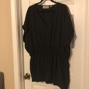 Avenue studio cinched beaded blouse